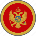 flag, montenegro, country