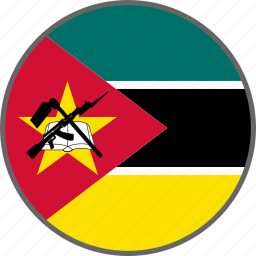 country, flag, mozambique icon