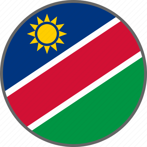 country, flag, namibia icon