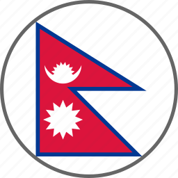 country, flag, nepal icon