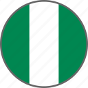 country, flag, nigeria icon