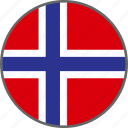 country, flag, norway icon