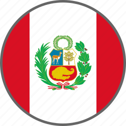 country, flag, peru icon