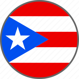 country, flag, puerto, puerto rico, rico icon