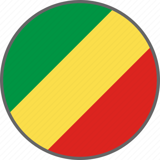 congo, country, flag, republic of the congo icon