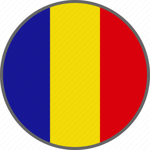 country, flag, romania icon