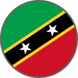 country, flag, kitts, nevis, saint kitts and nevis icon