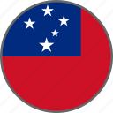 country, flag, samoa icon