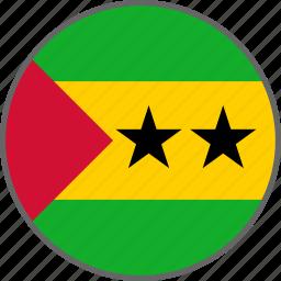 country, flag, principe, sao tome and principe icon