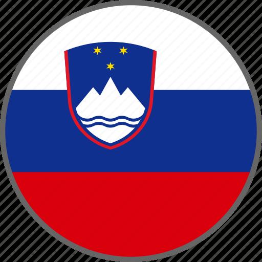 country, flag, slovenia icon