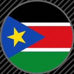 country, flag, south sudan, sudan icon