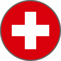 country, flag, switzerland icon