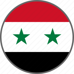 country, flag, syria icon