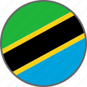 flag, tanzania, country icon