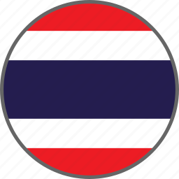 country, flag, thailand icon