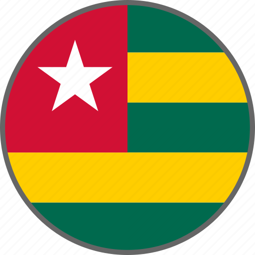 country, flag, togo icon