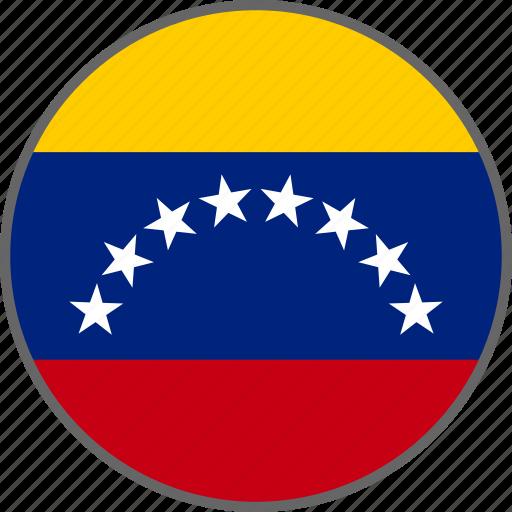 country, flag, venezuela icon