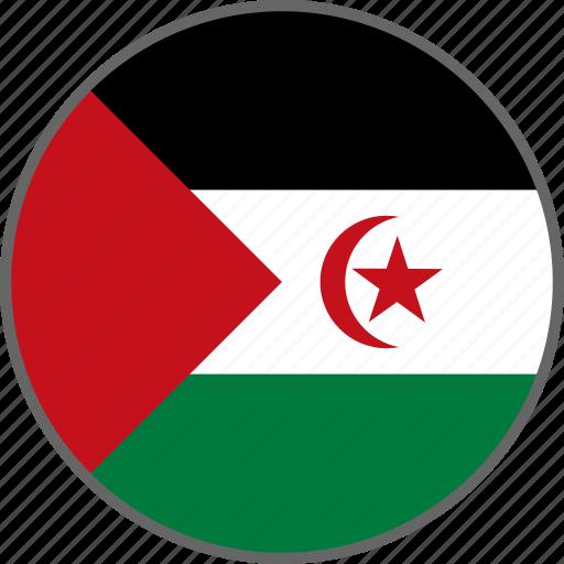 country, flag, sahara, western sahara icon