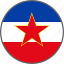 flag, yugoslavia, country