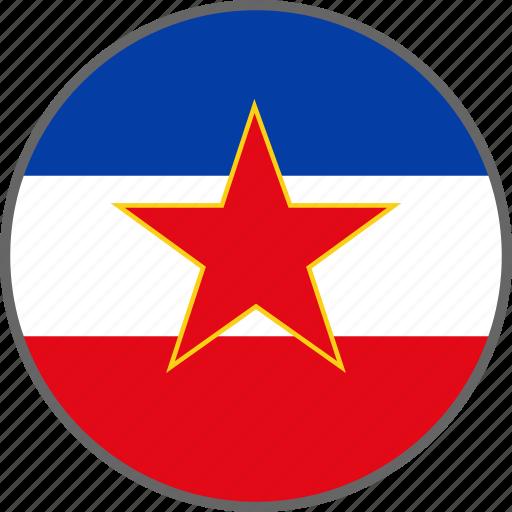 country, flag, yugoslavia icon
