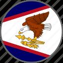 american samoa, country, flag, samoa icon