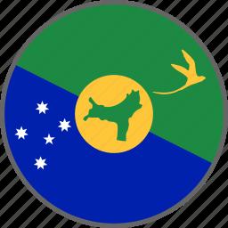 christmas island, country, flag icon