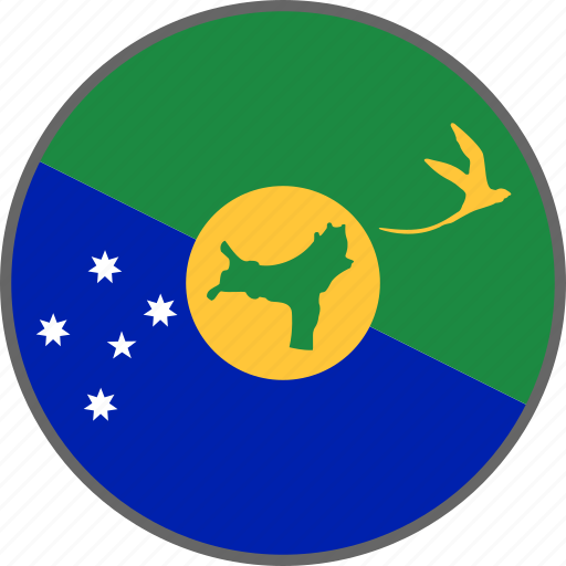 christmas island, country, flag icon