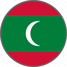 country, flag, maldives icon