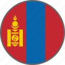 flag, mongolia, country