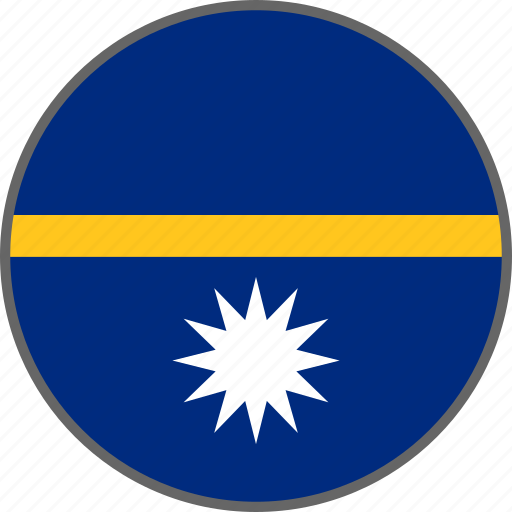 country, flag, nauru icon