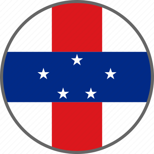 antilles, country, flag, netherlands antilles icon