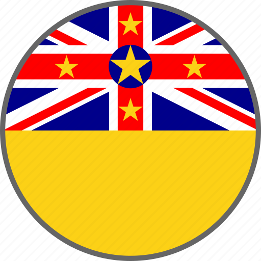 country, flag, niue icon