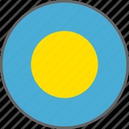 country, flag, palau icon