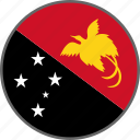 country, flag, papua new guinea icon