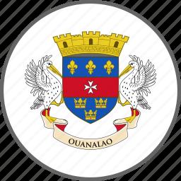 barthelemy, country, flag, saint barthelemy icon
