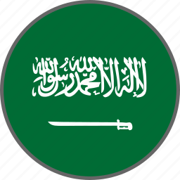 country, flag, saudi arabia icon