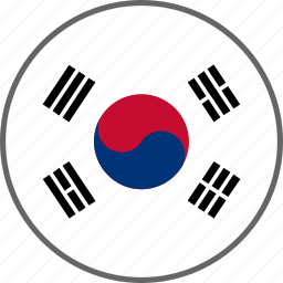 country, flag, korea, south korea icon