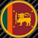 flag, srilanka, country