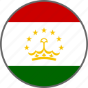 flag, tajikistan, country icon