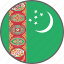 flag, turkmenistan, country