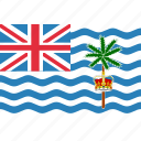 british, flag, indian, ocean, territory icon