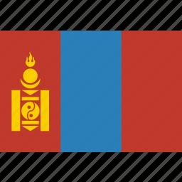 country, flag, mongolia, mongolian, national icon
