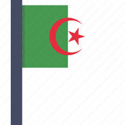 algeria, algerian, asian, country, flag, national icon