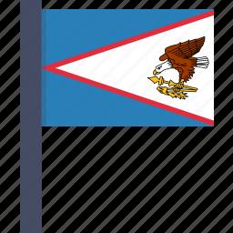 american, country, flag, national, samoa icon