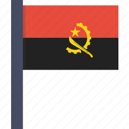 african, angola, country, flag, national icon