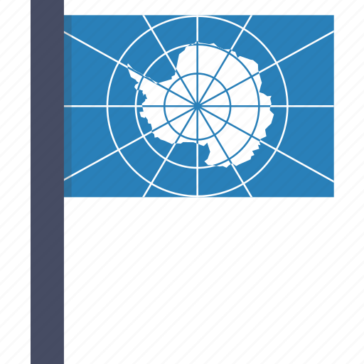 antarctic, antarctica, circle, flag, treaty icon