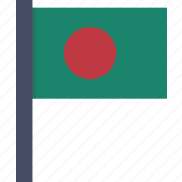 asian, bangla, bangladesh, country, flag, national icon