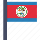 belize, country, flag, national icon