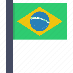 brazil, brazilian, country, european, flag, national icon