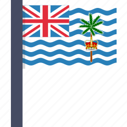british, flag, indian, national, ocean, territory icon